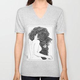 asc 590 - Le peigne (Combing her hair) Unisex V-Neck