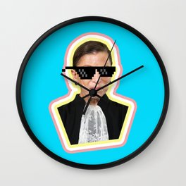 """The Notorious RBG Says """"Deal With It"""" Wall Clock"""