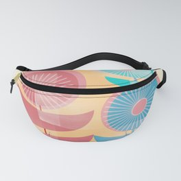 Three Flowers in Retro Style Fanny Pack