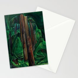 Emily Carr - Inside a Forest II - Canada, Canadian Oil Painting - Group of Seven Stationery Cards