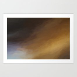 Abstract Beige and Black Shades.   Like painted on canvas. Art Print