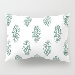 palm leaves in rows soft Pillow Sham