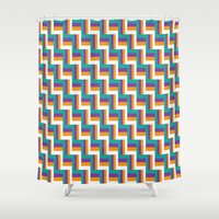 illusion Shower Curtains featuring Illusion by Jennifer Agu