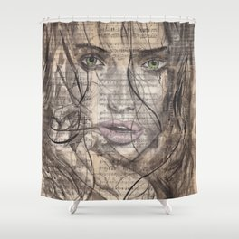 Killed By Love portrait Shower Curtain