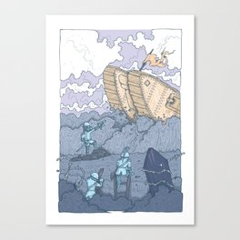 The Trench Blue Canvas Print