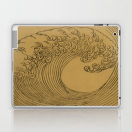 Vintage Golden Wave Laptop & iPad Skin