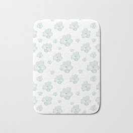 Pastel Floral Motif Pattern Bath Mat