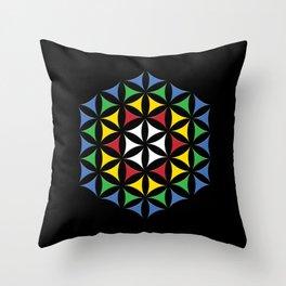 Rubix Flower Color Throw Pillow