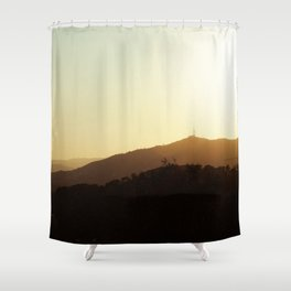 Sunset from Parc Guell, Barcelona. Shower Curtain