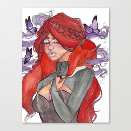 Fox Witch Canvas Print