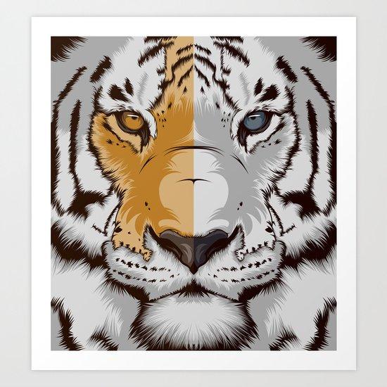 Tiger OWGW Art Print