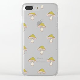 Capped Fellow as a pattern Clear iPhone Case