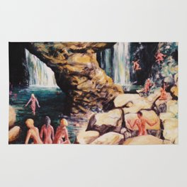Secret  Waterfall         by    Kay Lipton Rug