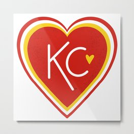 KC Love Red & Yellow Metal Print