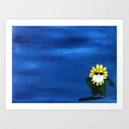 Dancing flower Art Print