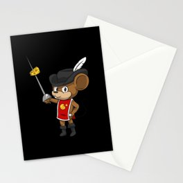 Mouse Musketeer With Sword Stationery Cards
