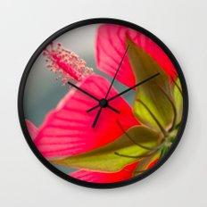 Pink Flower Wall Clock