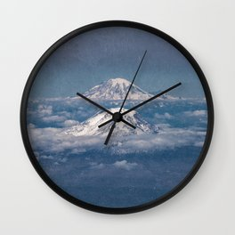 Mount Adams Mt Rainier - PNW Mountains Wall Clock