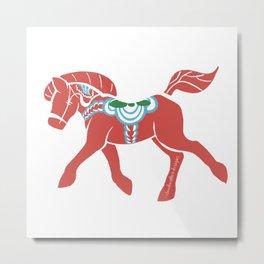 Real Dala Horse #2 Metal Print