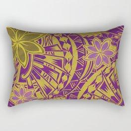 Hawaiian - Samoan - Polynesian Tribal Sunshine Watercolor Rectangular Pillow