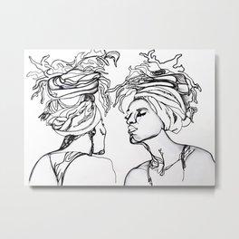 Aesthetic Reflection Metal Print