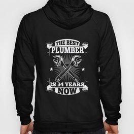 34th Birthday Present Plumber 34 Years Gift Hoody