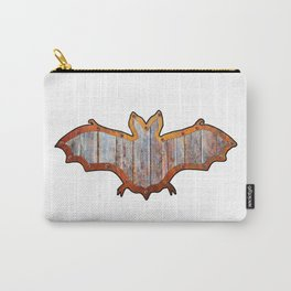 Pink Barn Board Halloween Bat Decoration In A Retro Style Carry-All Pouch