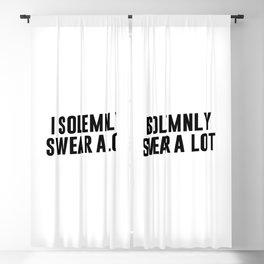 I Solemnly Swear A Lot Blackout Curtain