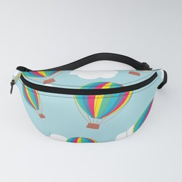 Hot air balloons and clouds - multicolored Fanny Pack