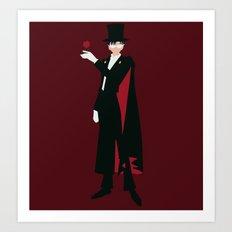 Tuxedo Mask (Red) Art Print