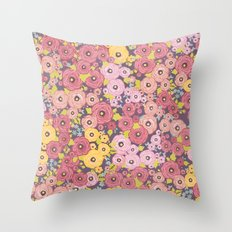 Bed o' Roses - Let's Not Kill Beautiful Flowers Throw Pillow