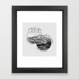 mountains-biffy clyro Framed Art Print