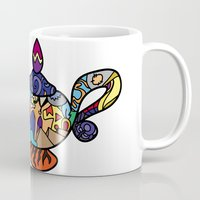 aladdin Mugs featuring Looking for the genie by Ilse S