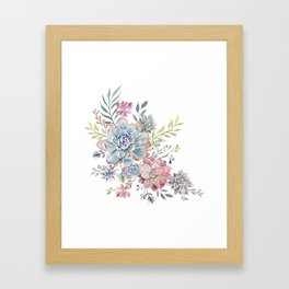 succulent watercolor 6 Framed Art Print