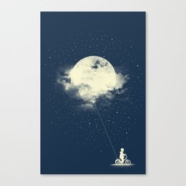 THE BOY WHO STOLE THE MOON Canvas Print
