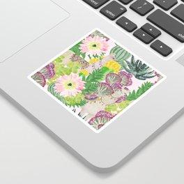 llamas+cactus Sticker