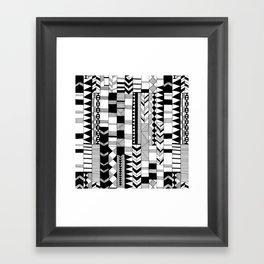 Black and White Hand Drawn Framed Art Print