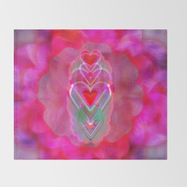 The Hearts Mantra Throw Blanket