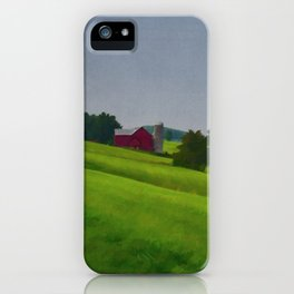 Pure Country Red Barn Art Poster iPhone Case