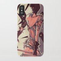 dragon age iPhone & iPod Cases featuring Dragon Age: Marian Hawke by Sara Cuervo