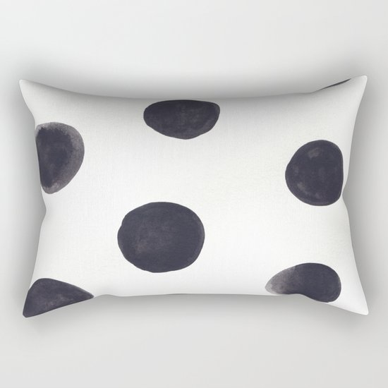 Watercolour Dots Rectangular Pillow