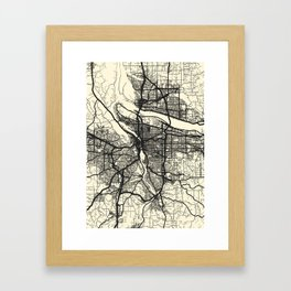 Portland,OR Framed Art Print