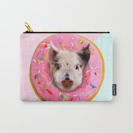 Pig Strawberry Donut Carry-All Pouch