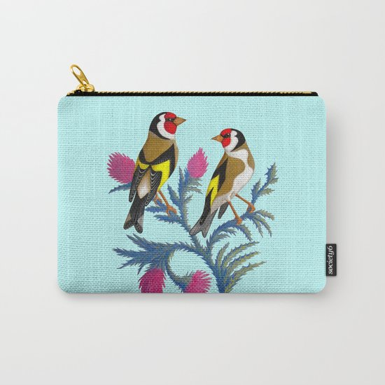 carduelis carduelis (euro goldfinch) Carry-All Pouch