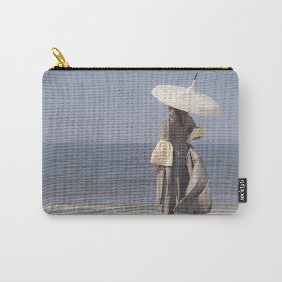 White Parasol Carry-All Pouch