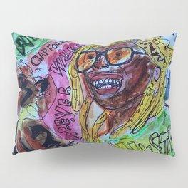 wayn,small,poster,drawing,painting,singer,rapper,rap,wall art,fan art,cool,dope,original,graffiti Pillow Sham