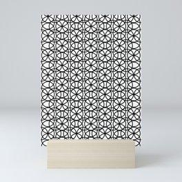 Circle Heaven Black and White, Overlapping Ring Pattern Illustration Mini Art Print