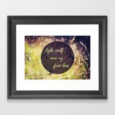 My First Love Framed Art Print