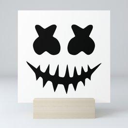 Marshmellow Halloween smile Mini Art Print