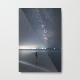 Observing Milky Way from the sea Metal Print